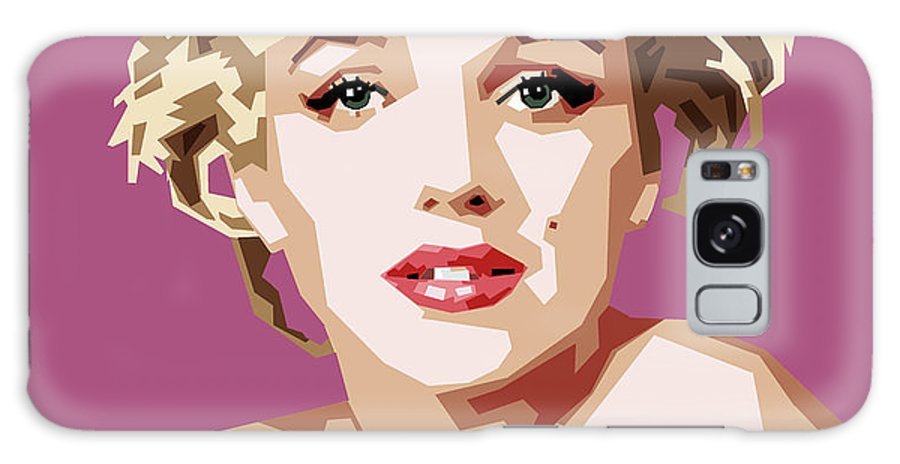 Digital Galaxy Case featuring the digital art Marilyn by Douglas Simonson