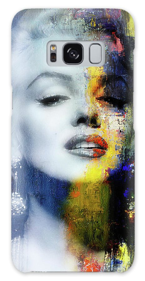 Marilyn Galaxy Case featuring the mixed media Marilyn Duality by Mal Bray