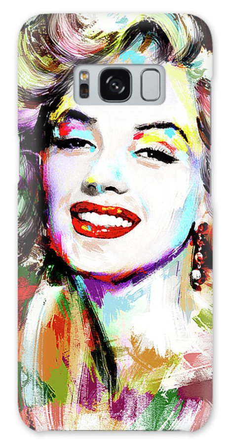 Marilyn Galaxy Case featuring the painting Marilyn Monroe drawing by Stars on Art