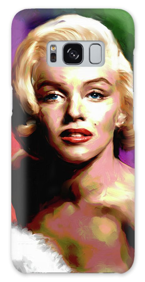 Marilyn Galaxy Case featuring the painting Marilyn Monroe painting by Stars on Art