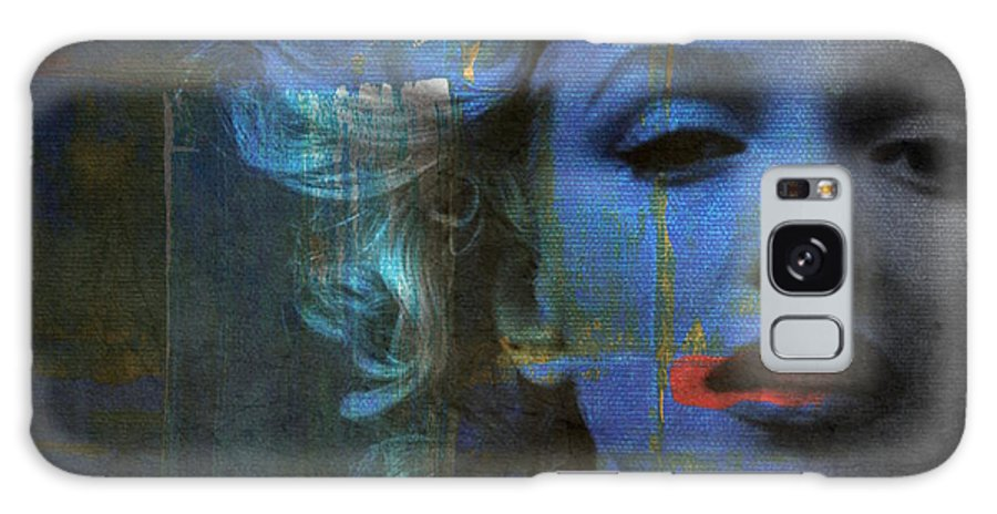 Monroe Galaxy Case featuring the mixed media Marilyn Monroe - Retro by Paul Lovering