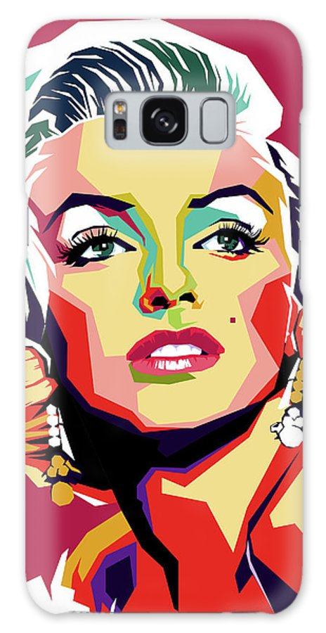 Marilyn Galaxy Case featuring the digital art Marilyn Monroe by Stars on Art