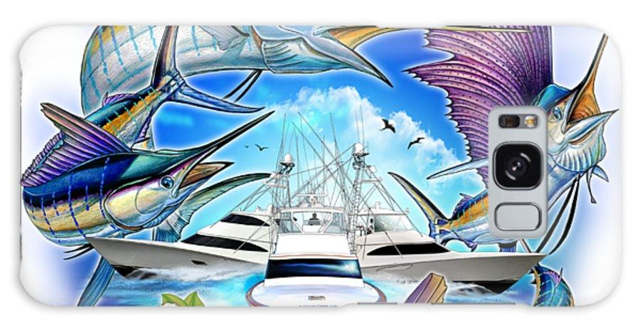 Blue Marlin Galaxy S8 Case featuring the digital art Marina Casa De Campo Open Art by Terry Fox