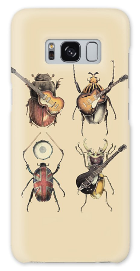 Beatles Galaxy Case featuring the digital art Meet the Beetles by Eric Fan