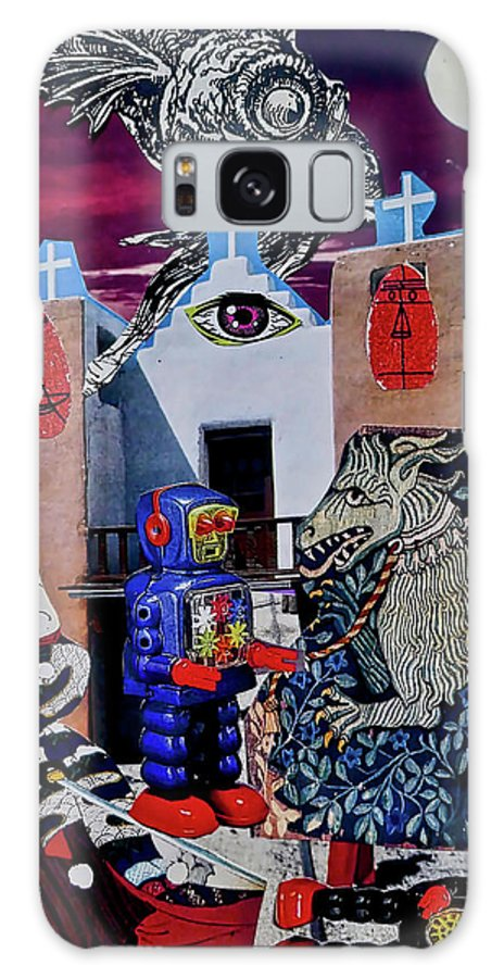 Imagination Galaxy Case featuring the painting Mind's Eye by Joan Reese