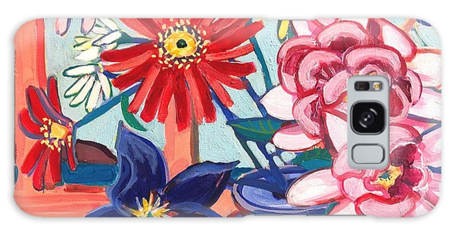 Flowers Galaxy Case featuring the painting Monhegan Island Bouquet by Debra Bretton Robinson