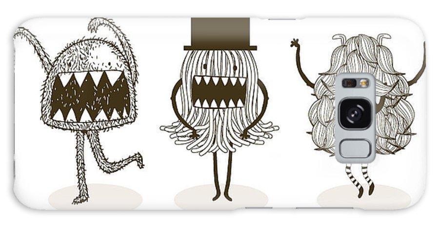 Fur Galaxy S8 Case featuring the digital art Monster Illustrationvector by Lyeyee