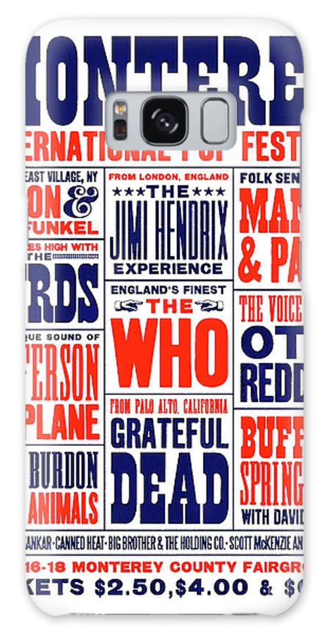 Monterey Pop Festival Galaxy Case featuring the mixed media Monterey Pop Festival, poster by Thomas Pollart