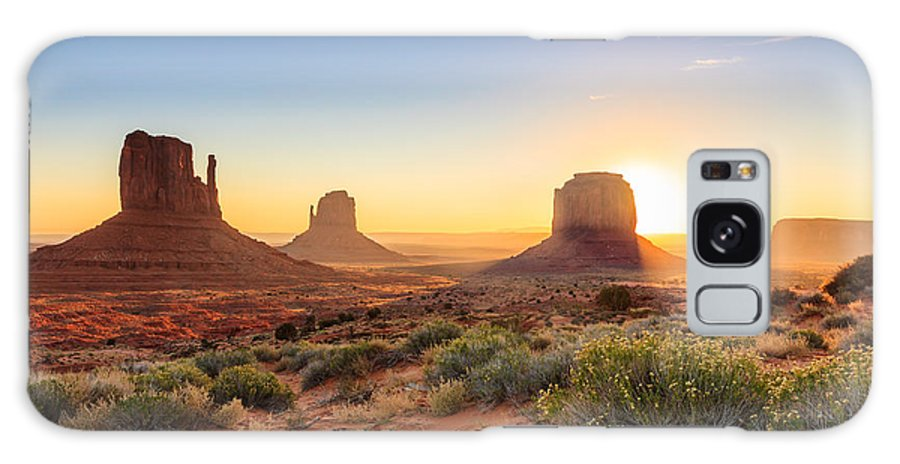 Southwest Galaxy S8 Case featuring the photograph Monument Valley Twilight, Az, Usa by F11photo