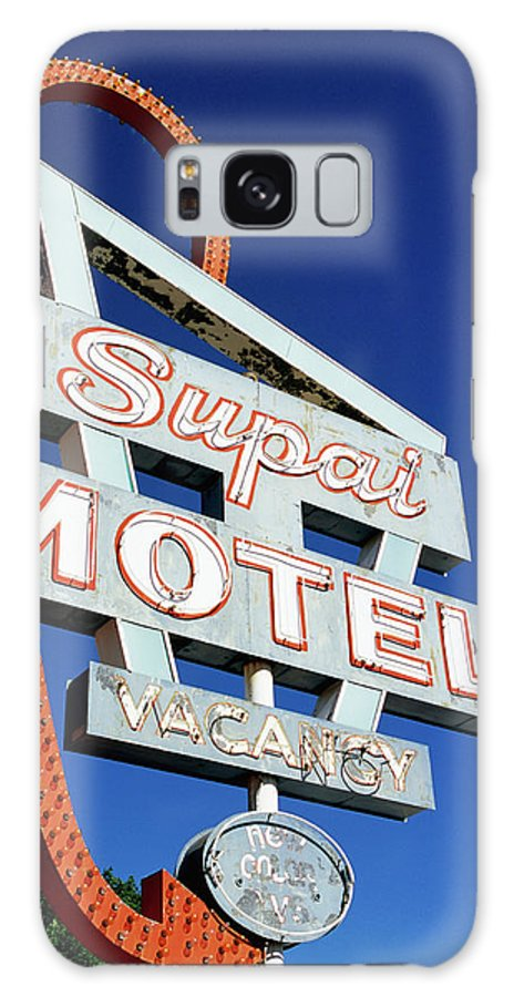 Shadow Galaxy Case featuring the photograph Motel Sign In Midwest, United States Of by Oliver Strewe
