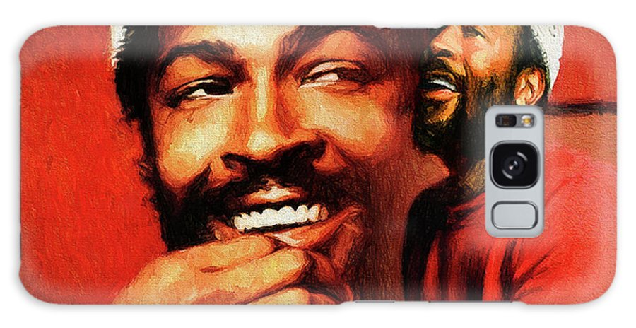 Marvin Gaye Galaxy S8 Case featuring the painting Motown Genius by John Farr