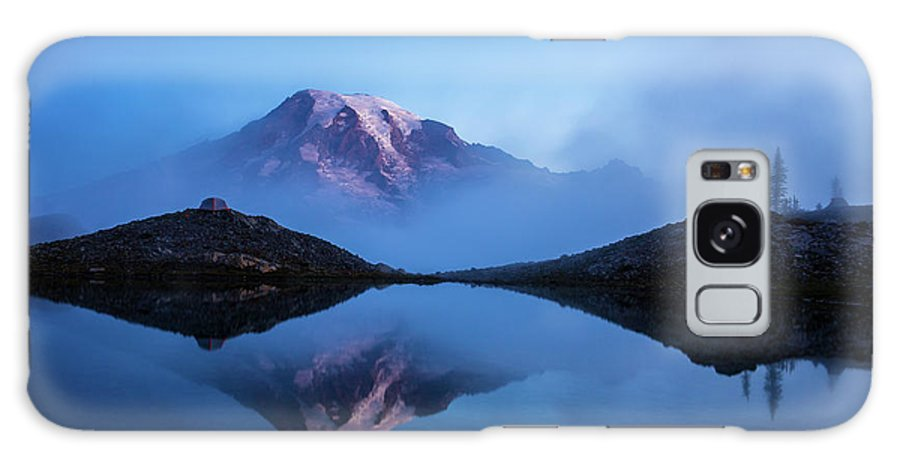 Rainier Galaxy Case featuring the photograph Mount Rainier In The Mist by Mike Reid