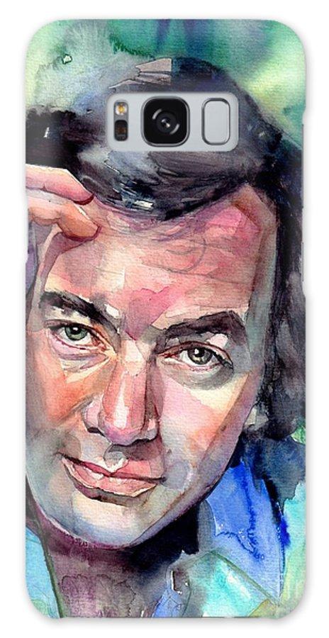 Neil Diamond Galaxy Case featuring the painting Neil Diamond Portrait I by Suzann Sines