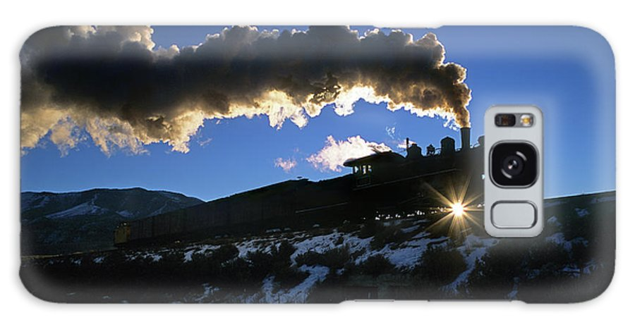 Freight Transportation Galaxy Case featuring the photograph Nevada Sunrise by Mike Danneman
