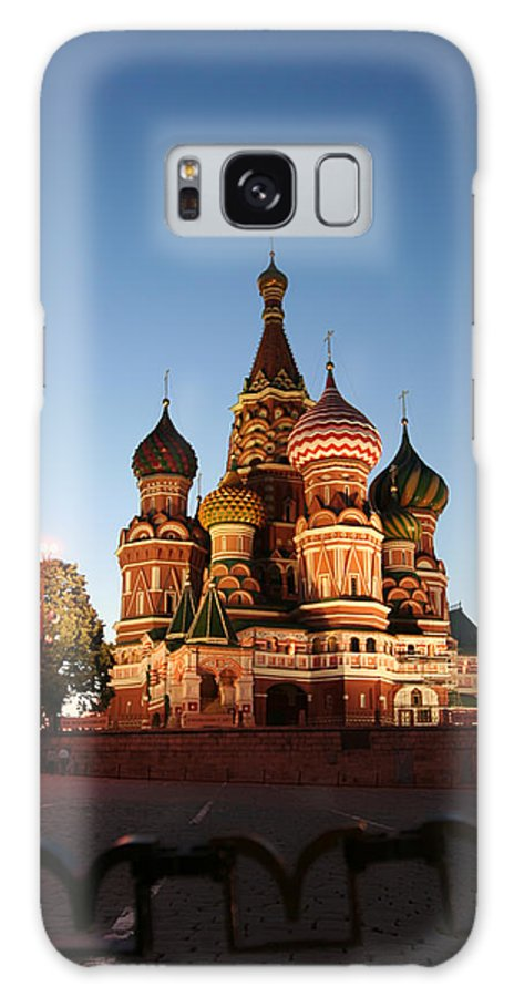 Built Structure Galaxy Case featuring the photograph Night View At St. Basil Cathedral by Zzoom