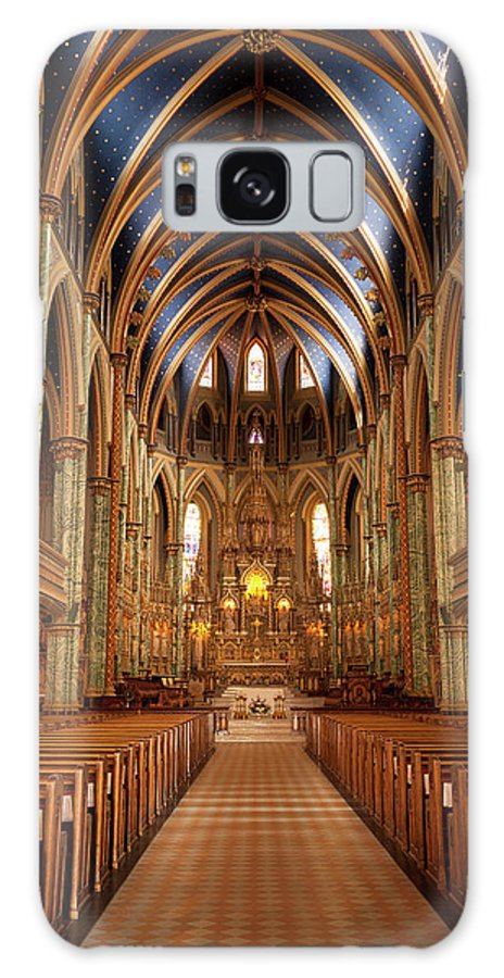 Arch Galaxy Case featuring the photograph Notre Dame Cathedral Ottawa by Pgiam