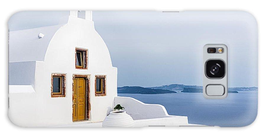 Cyclades Galaxy S8 Case featuring the photograph Old Church In Santorini Island, Greece by Svetlana Ryajentseva