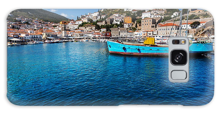 Harbor Galaxy S8 Case featuring the photograph Original Hydra Island In Greece by Galyna Andrushko