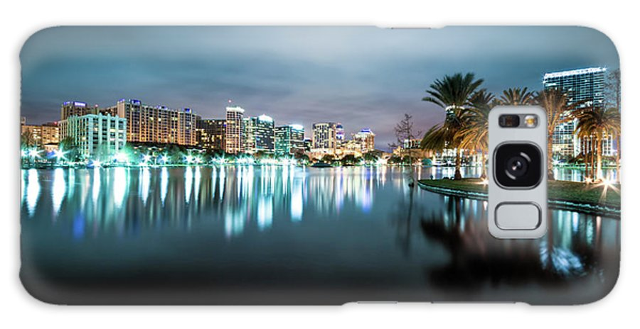 Outdoors Galaxy Case featuring the photograph Orlando Night Cityscape by Sky Noir Photography By Bill Dickinson