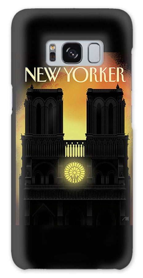Our Lady Galaxy Case featuring the painting Our Lady by Bob Staake