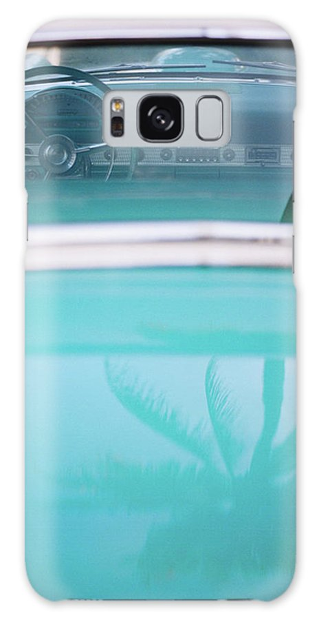 Outdoors Galaxy Case featuring the photograph Palm Tree Reflection On Car by Jörgen Persson - Www.rebusfilm.se
