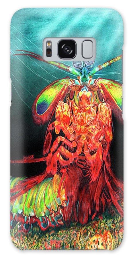 Peacock Mantis Shrimp Galaxy S8 Case featuring the painting Peacock Mantis Shrimp by Peter Piatt