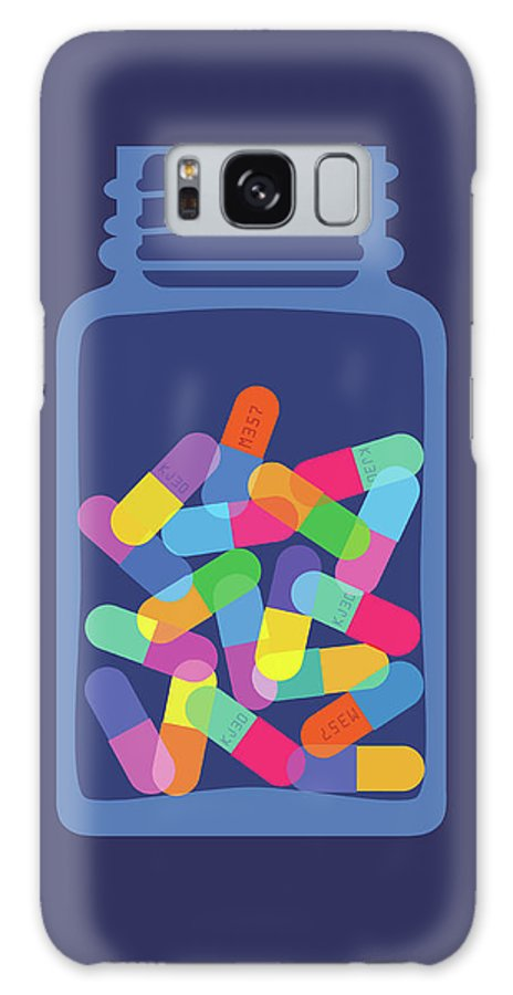 Sugar Galaxy Case featuring the digital art Pills And Capsules In Bottle by Smartboy10