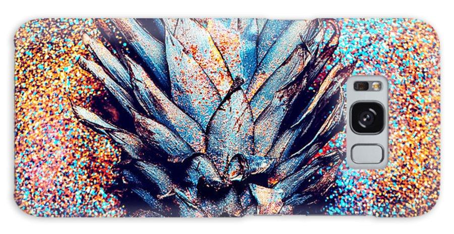 Sparkle Galaxy S8 Case featuring the photograph Pineapple Shine Fashion Minimalism by Evgeniya Porechenskaya