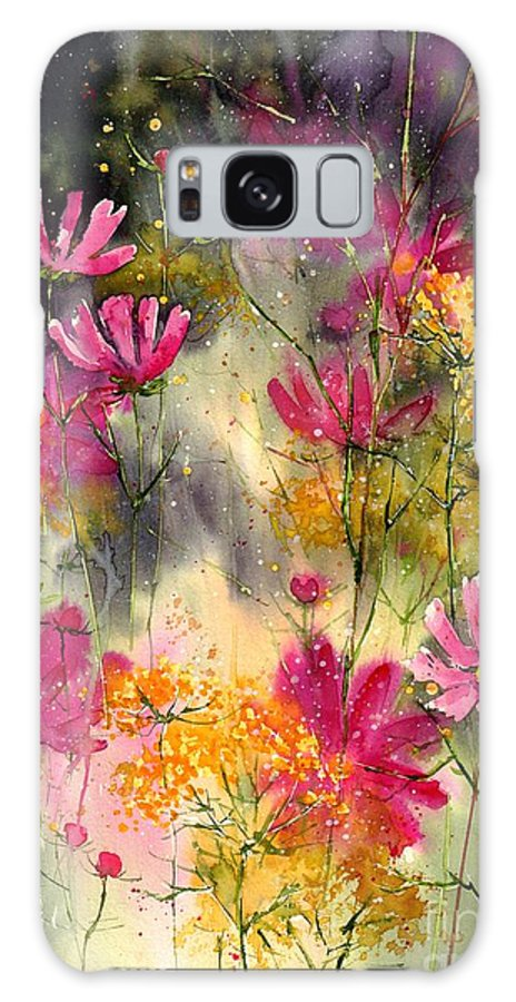 Floral Galaxy Case featuring the painting Pink Ballerinas by Suzann Sines