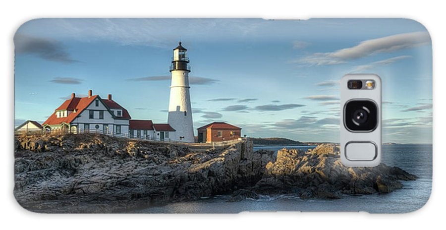 Outdoors Galaxy Case featuring the photograph Portland Head Lighthouse by Kenneth C. Zirkel