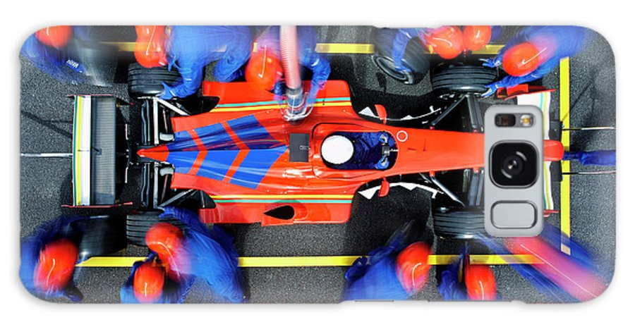 Viewpoint Galaxy Case featuring the photograph Racecar Driver At The Pit Stop by Fuse