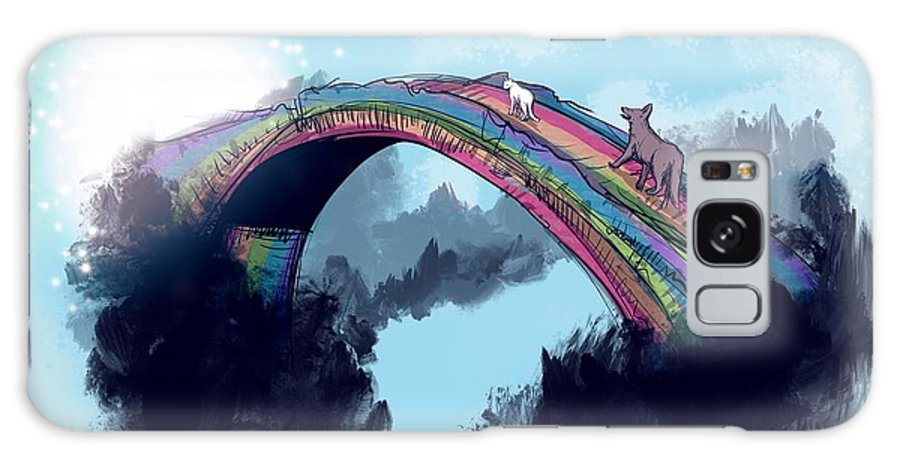 Rip Galaxy Case featuring the drawing Rainbow Bridge by Ludwig Van Bacon