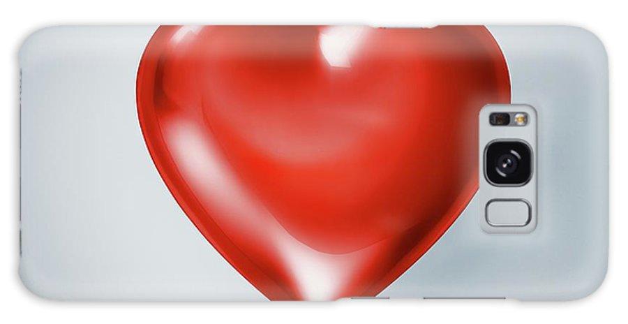 Concepts & Topics Galaxy Case featuring the digital art Red Heart, Artwork by Leonello Calvetti