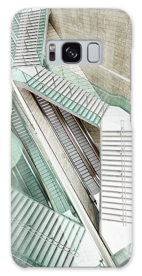 Long Galaxy Case featuring the photograph Reflected Modern Architecture - Winding by Georgeclerk