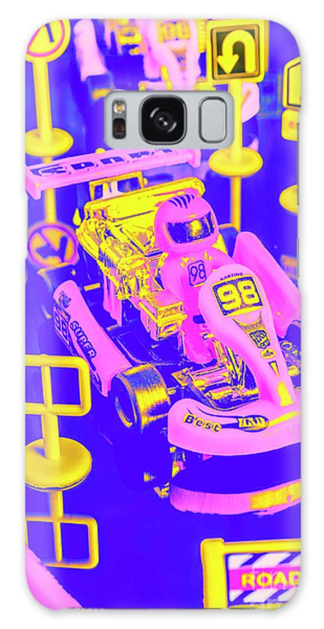 Racer Galaxy S8 Case featuring the photograph Retro Race Day by Jorgo Photography - Wall Art Gallery