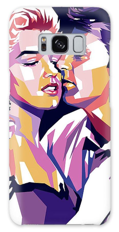 Robert Mitchum Galaxy Case featuring the digital art Marilyn Monroe and Robert Mitchum by Stars on Art