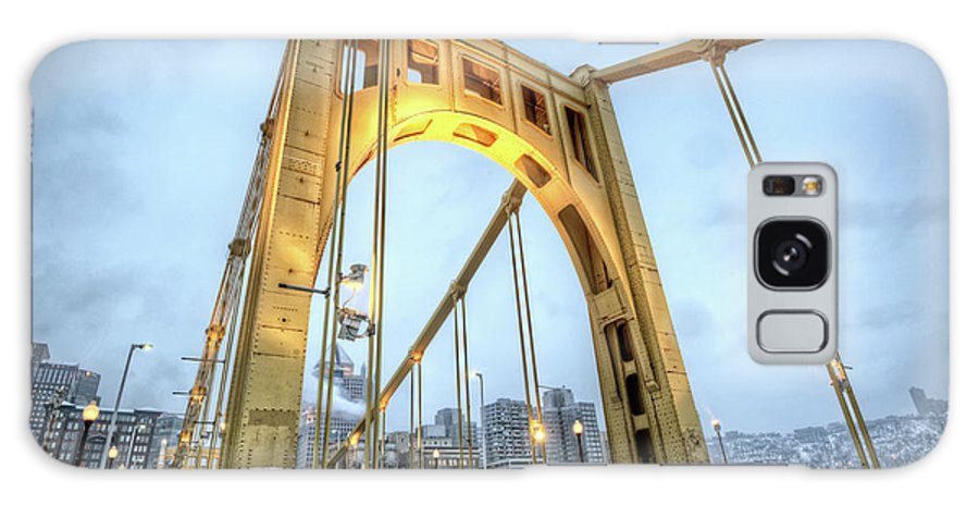 Arch Galaxy Case featuring the photograph Roberto Clemente Bridge by Hdrexposed - Dave Dicello Photography
