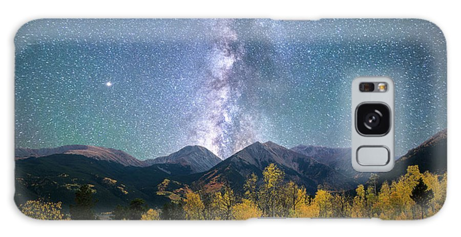 Colorado Galaxy S8 Case featuring the photograph Rocky Mountain Autumn Stars by Aaron Spong