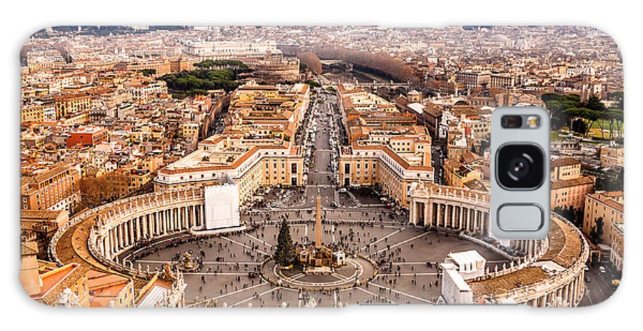 Pope Galaxy S8 Case featuring the photograph Rome, Italy. Famous Saint Peters Square by S-f