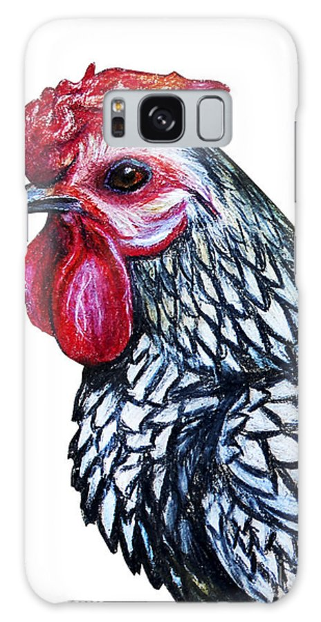 Small Galaxy S8 Case featuring the digital art Rooster Decorative Portrait Drawing by Viktoriya art