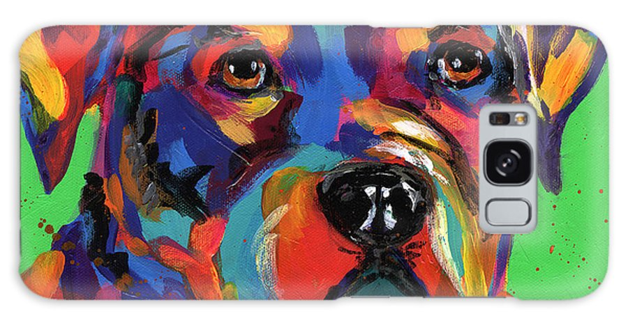 Tracy Miller Galaxy S8 Case featuring the painting Rottweiler by Tracy Miller