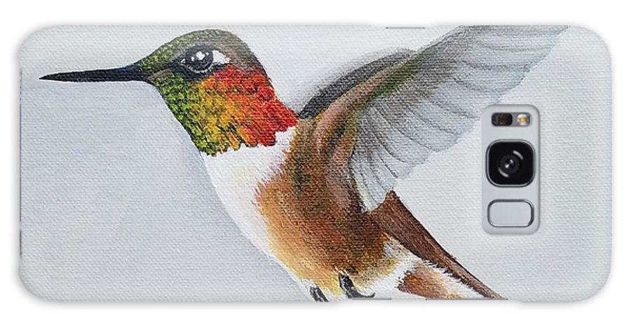 Hummingbird Painting Galaxy S8 Case featuring the painting Rufous by Mishel Vanderten