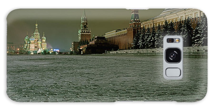 Outdoors Galaxy Case featuring the photograph Russia, Moscow, Red Square And Kremlin by Hans Neleman