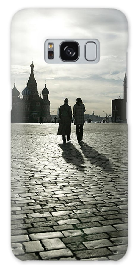 Shadow Galaxy Case featuring the photograph Russia, Moscow, Red Square, Silhouette by Will & Deni Mcintyre