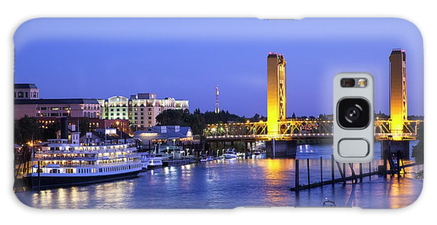 Scenics Galaxy Case featuring the photograph Sacramento River And Tower Bridge At by Picturelake