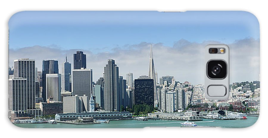 Downtown District Galaxy Case featuring the photograph San Francisco Skyline Panoramic View by 4fr