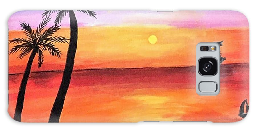 Canvas Galaxy Case featuring the painting Scenary by Aswini Moraikat Surendran