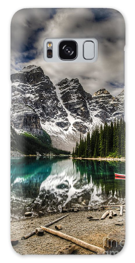 Altitude Galaxy Case featuring the photograph Scenic Mountain Landscape Of Moraine by Bgsmith
