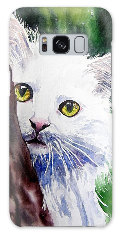Little Galaxy S8 Case featuring the painting Shy One by Suzann Sines