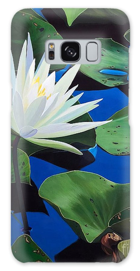 Aquatic Galaxy Case featuring the painting Silent Love by Hunter Jay